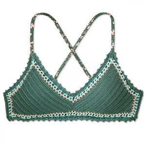 NWT Xhilaration Bralette Bikini Top XL Green